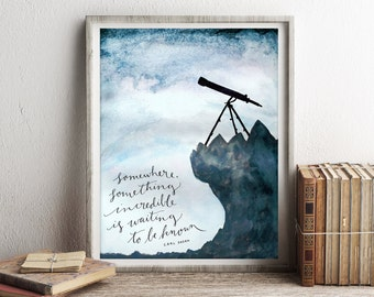 Carl Sagan Print, Carl Sagan Poster, Carl Sagan Quote, Night Sky Print, Cosmos Astronomy, Gifts for Science Lover, Space & Science Wall Art