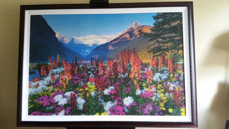 24c1a9d8a66 Professionally Framed 3000pc Ravensburger Flowery Mountains | Etsy