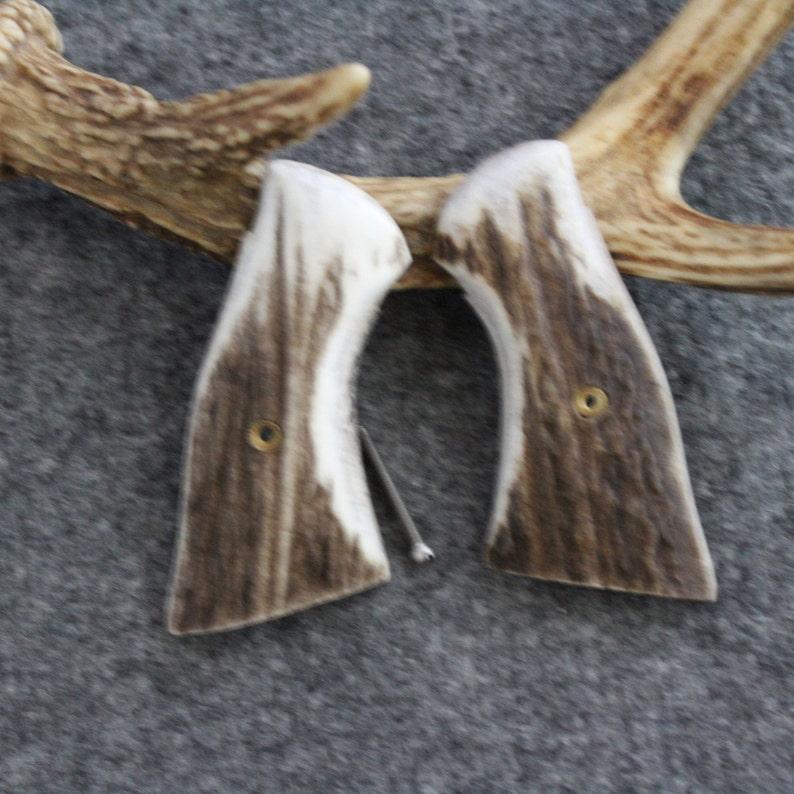 Ruger Security Six Elk Antler Custom Pistol Grips - Handmade Unique - Item  #880