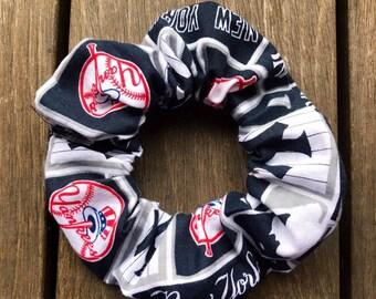 New York Yankees scrunchie, Yankees hair accessories, New York Yankees gift, New York Yankees hair tie