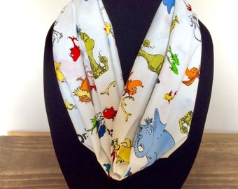 Dr. Seuss infinity scarf, Dr. Suess scarf, Dr. Suess day