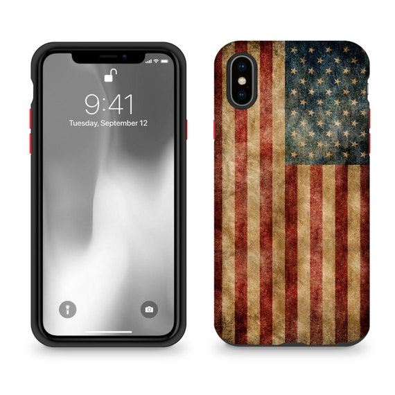 Vintage American Flag iPhone XXs Case United Streets of Art   Etsy
