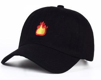 Emoji Baseball Cap - Fire Dad Hat by Heavenly Hats 3a14dec4b610