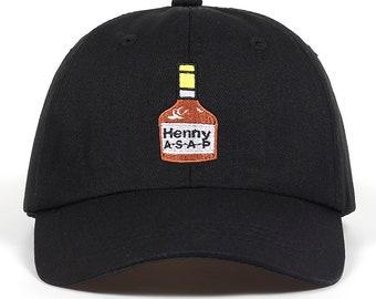 Vintage Henny Dad Hat - Vintage Dad Cap - Dad Hat - Vintage Washed Henny Hat  - Vintage Dad Hat - Henny Cap - ASAP Henny Embroidered Dad Hat 92574b0932c7