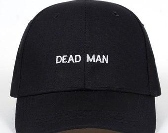 Dead Man Dad Hat - Dead Dad Hat - Black Baseball Cap - Black Dad Hat - Dead  guy Hat - Embroidered Dad Hat by heavenly hats 8cb1e8c179b8