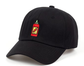 Dad Hat - Sriracha Hat ( Sriracha Dad Hat - Summer Baseball cap - Black Dad  hat - Hot Sauce Dad Hat - Dad Cap - Embroidered Hat - Patch Hat) f806a5005fd