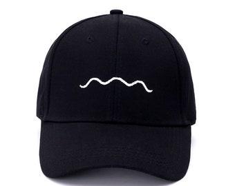 fd3153325c9 Ocean Wave black Baseball hats Dad Hats  Embroidered Hats Dad Caps Baseball  Caps Cotton hats  Tumblr Hats Trucker Hats  Dad hat dad cap hat