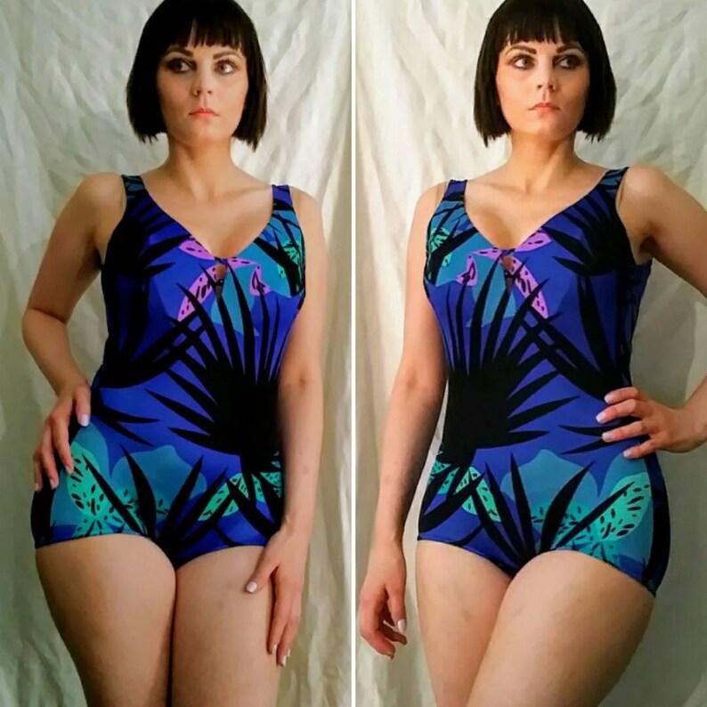 b61ea5af250dc Maxine of Hollywood Bathing Suit / Swimsuit Swimwear/ Blue One | Etsy
