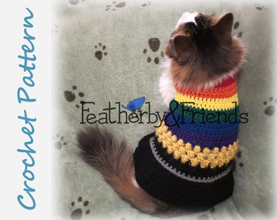 Pattern Lucky Pet Sweater For Cats Or Small Dogs Crochet St Etsy