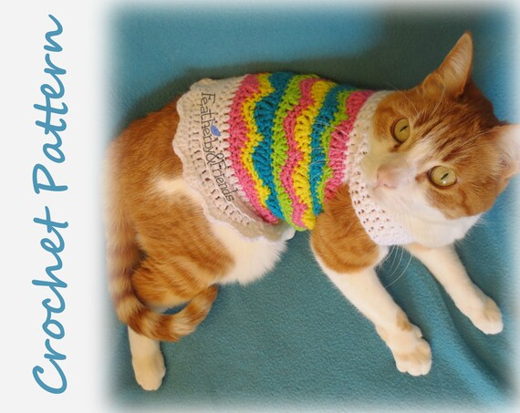 Small Pet Stripy Sweater Crochet Pattern - Ideal Me | 453x570