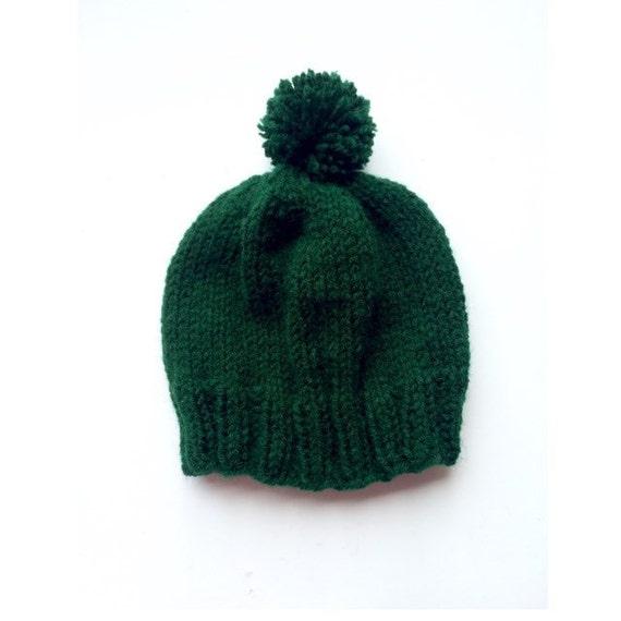 Forest green baby hat dark green baby hat 6 month old hat  a2389bb88603