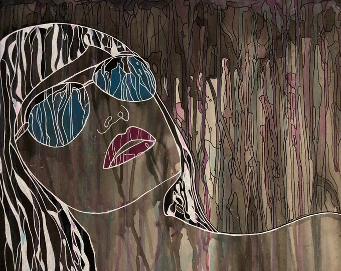 Abstract Woman with sunglasses CZ19001 -  Original Abstract Art