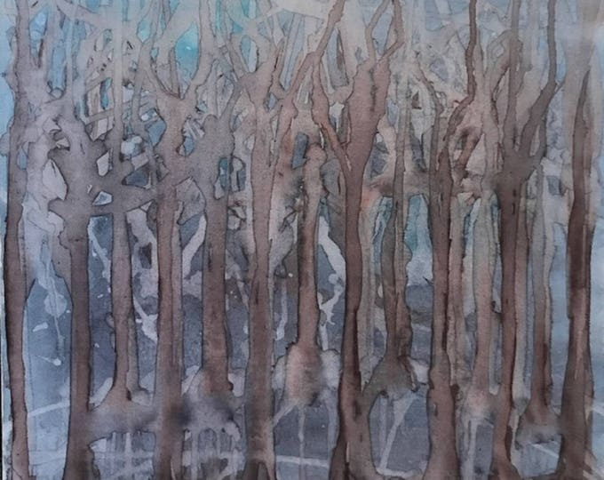 Mystery Forest - Original Abstract Art