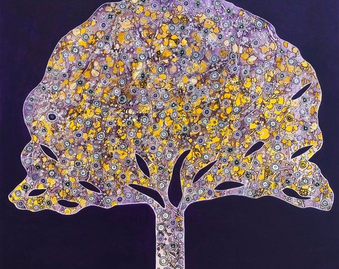 Elaborate Tree Purple - CZ19041 - 91cm x 91cm