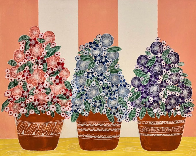 Three flower pots CZ19030 - 51cm x 41cm