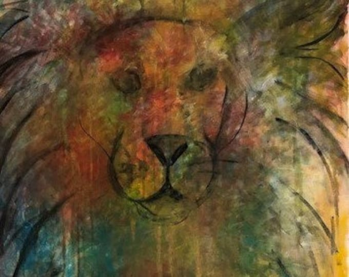 Abstract Lion CZ18012 - Original Abstract Art