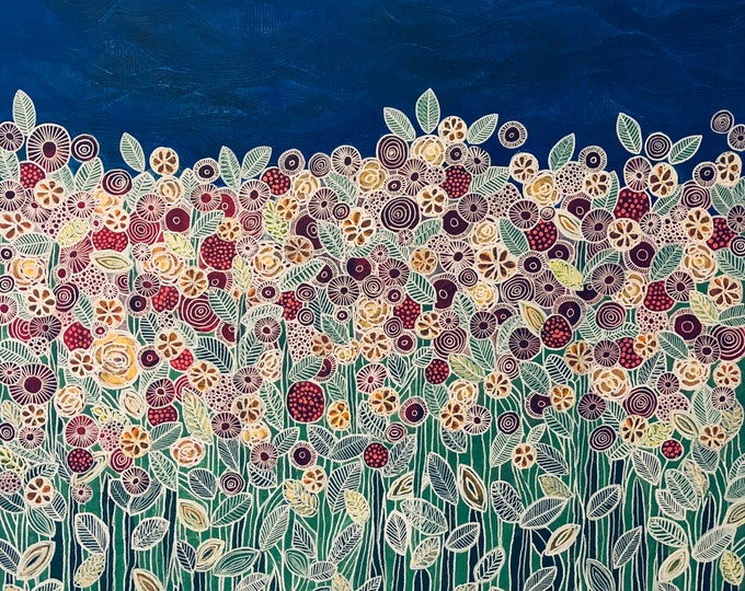 Garden beneath the blue sky CZ19039 - 91cm x 91cm
