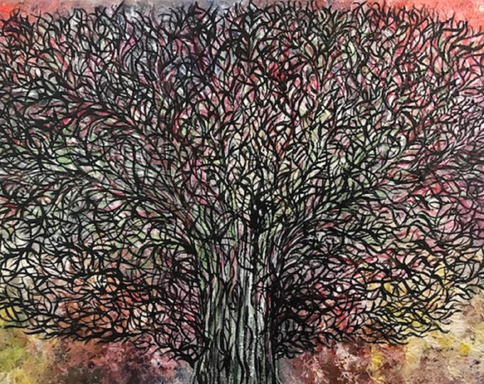 Abstract Tree CZ17013 -  Original Abstract Art