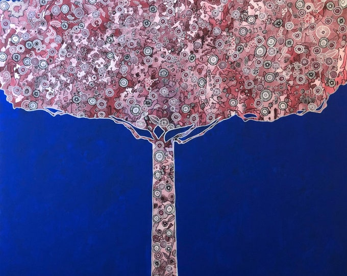 Elaborate Tree Blue CZ19040 - 91cm x 91cm