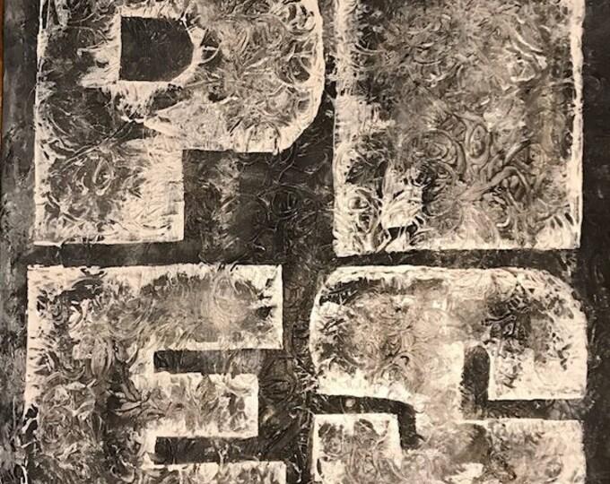 Collingwood - original abstract footy art