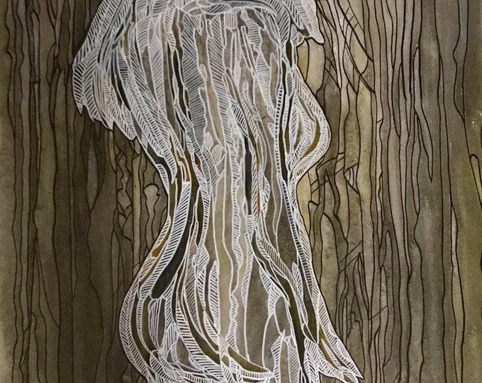Woman #2 -  61cm x 91cm - Original Abstract Art