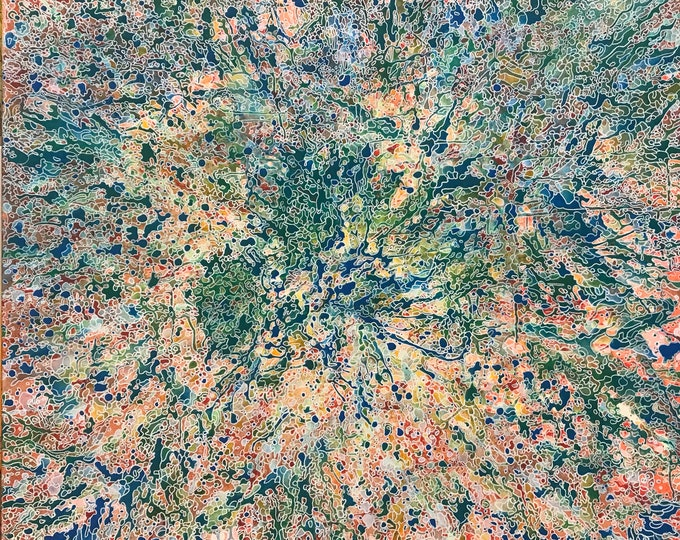 Coral from above CZ18039 - 91cm x 91cm