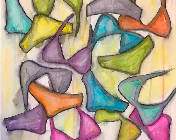 Bikinis 1 - 40cm x 40cm - Original abstract art