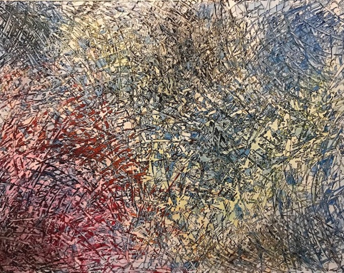 Abstract CZ18024 -  Original Abstract Art