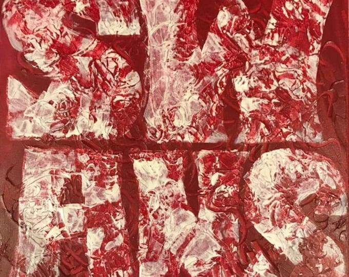 Sydney Swans - original abstract footy art