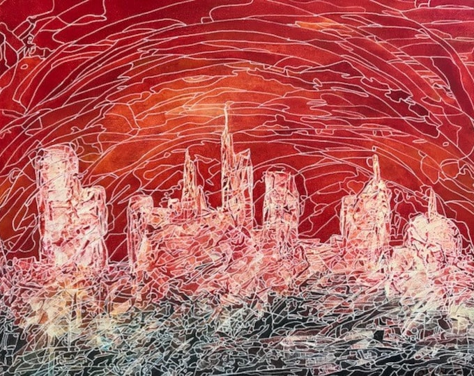 Abstract CZ18035 Cityscape -  Original Abstract Art