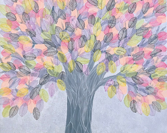 Leafy Tree CZ19025 - Original Art