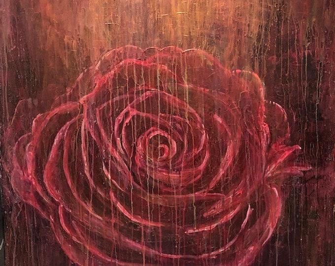 Single Rose CZ19002 -  91cm x 91cm