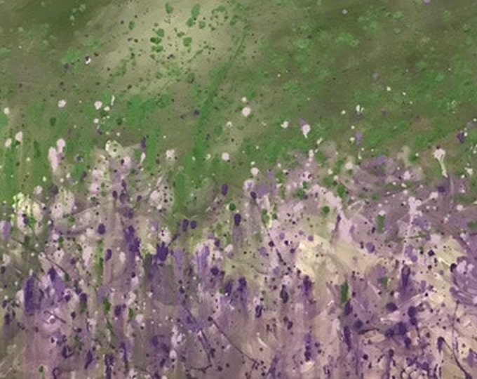 Lilac flowers in the garden - 100cm x 50cm - Original Abstract Art