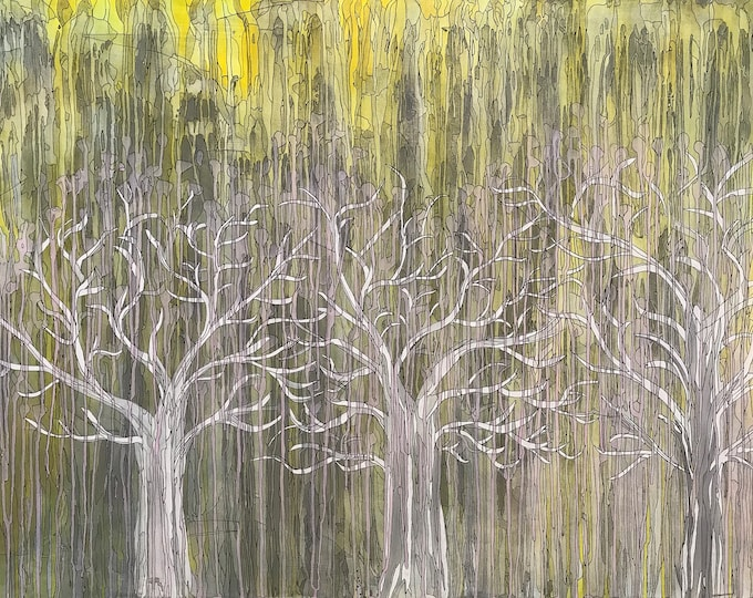Trees in the woods CZ18033 -  122cm x 91cm