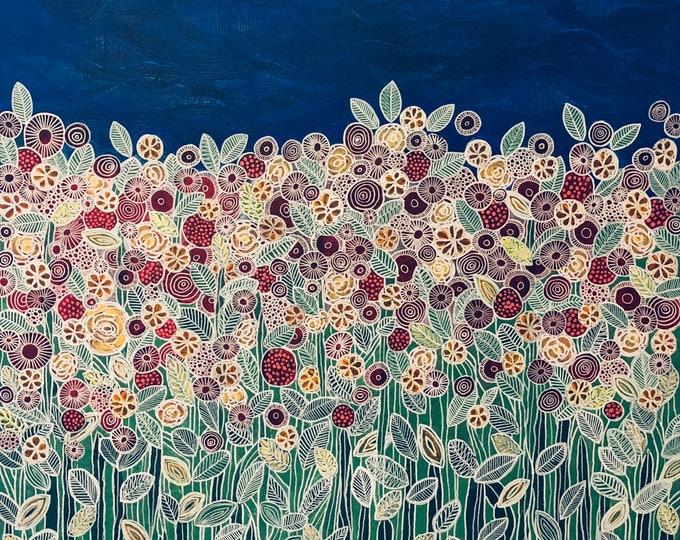 Garden beneath the blue sky CZ19039 - 91cm x 91cm