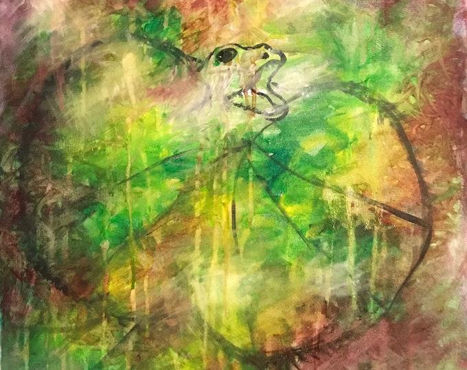 Abstract Frilled Neck Lizard  CZ18015 - Original Abstract Art