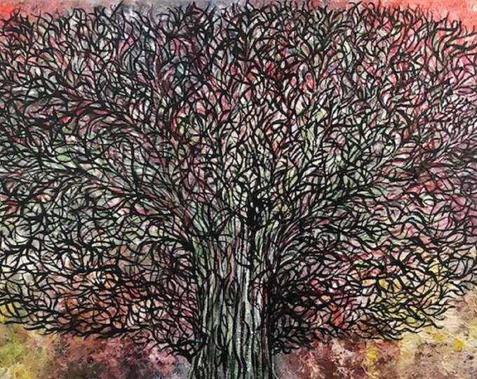 Abstract Tree CZ17013 -  Original Abstract Art