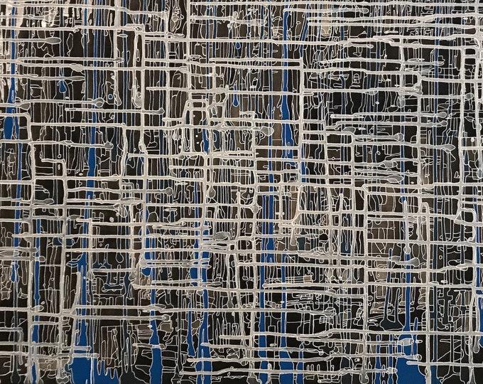 Abstract CZ18040 -  152cm x 61cm - Original Abstract Art