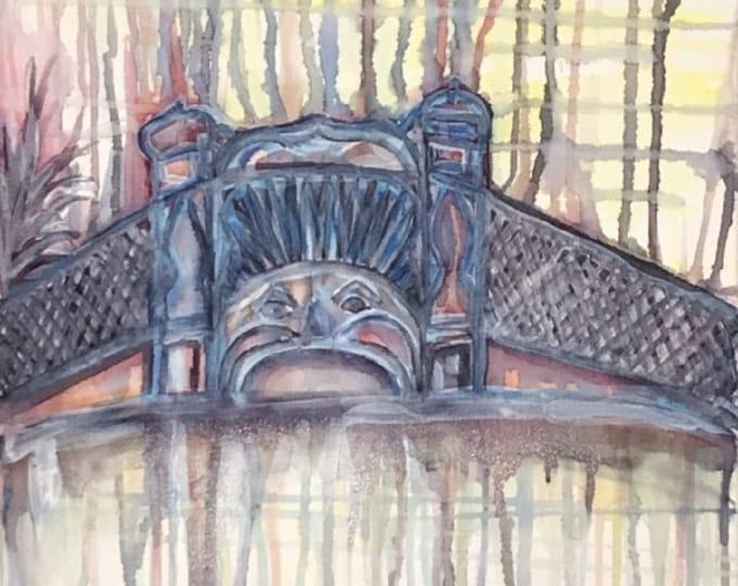 Luna Park Melbourne 2 - 40cm x 40cm - Original Abstract Art
