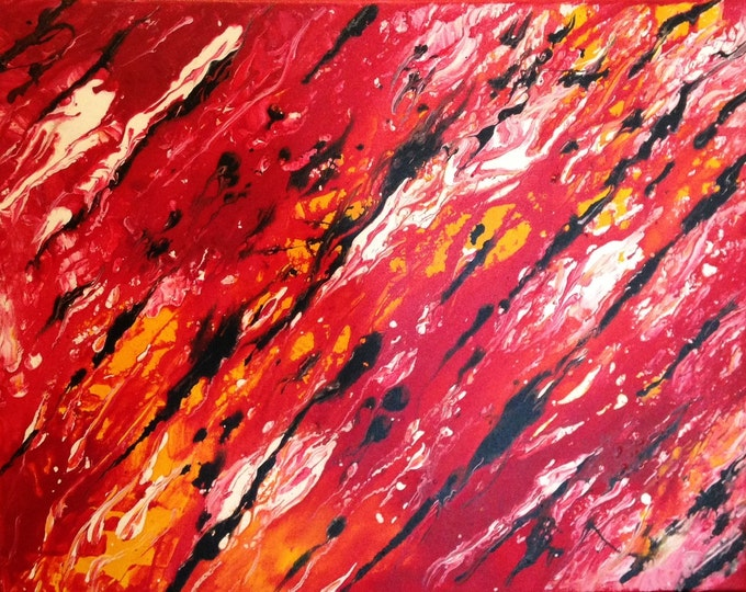 Abstract Red - 50cm x 40cm - Original Abstract Art