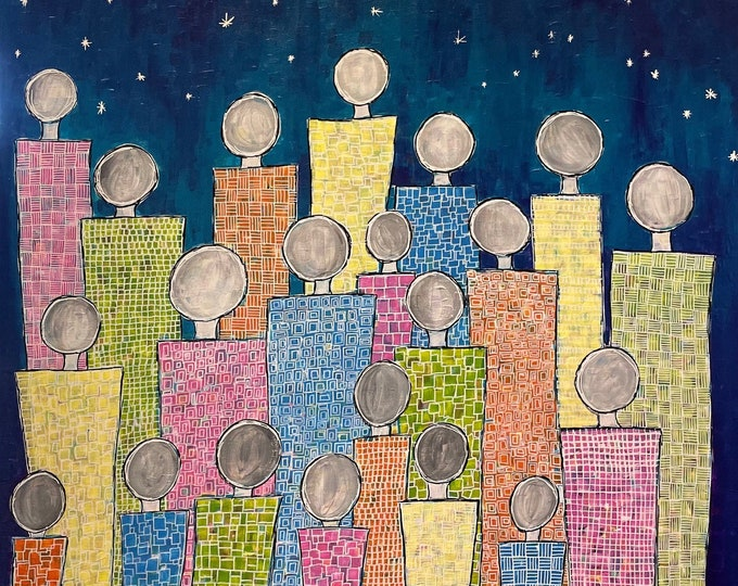 We are the same but different - Starry Night - CZ21034 - 90cm (w) x 90cm (h)