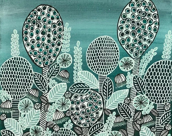 Bulbs and Blooms Green- CZ20024 - 30cm x 40cm