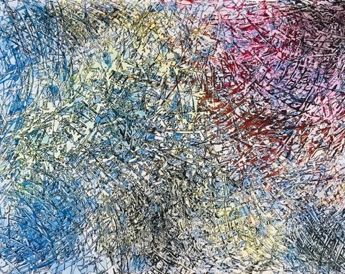 Burst CZ18024 -  Original Abstract Art
