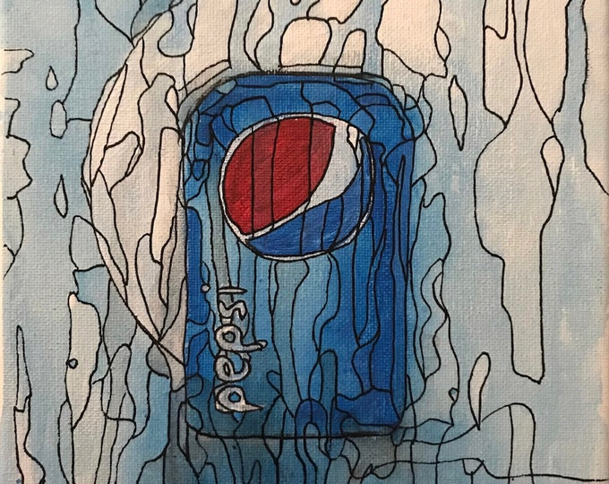 Pepsi CZ18045 - 20cm x 20cm - Original Abstract Art