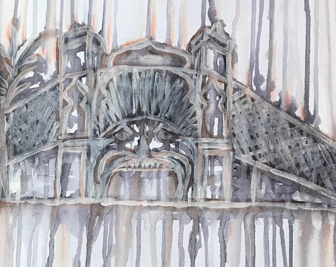 Luna Park Melbourne - Original Abstract Art