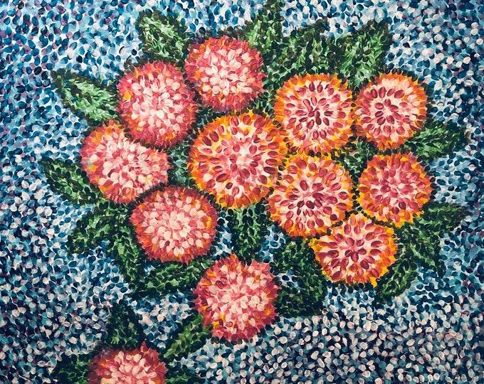 Bouquet of Flowers CZ20006 -  Original Abstract Art