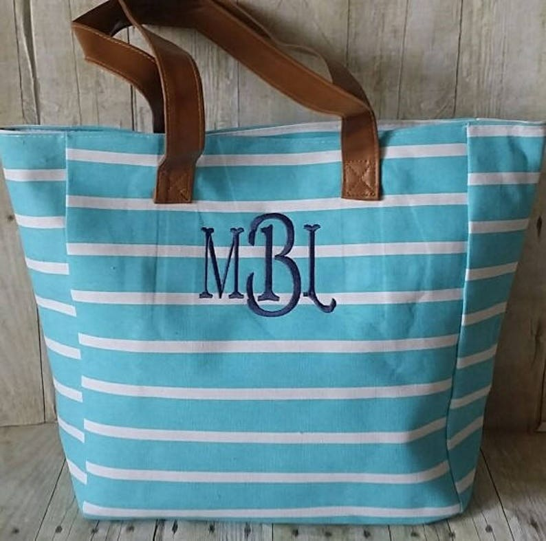 07ea03c7da5fc Personalized Tote Bag Monogrammed Tote Bag Bridesmaid Tote