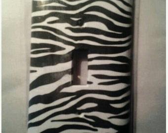 Zebra Print Decorative Light Switch Cover