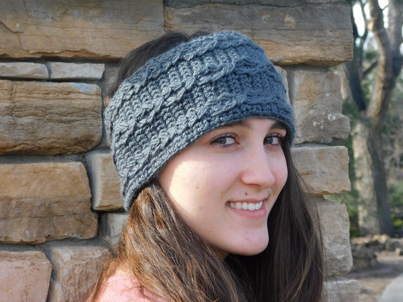 Cabled Earwarmer Crochet Pattern image 0