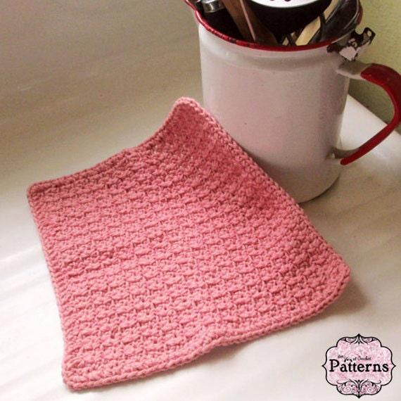 Crochet Dishcloth Pattern Crochet Pattern For Beginners Easy Etsy